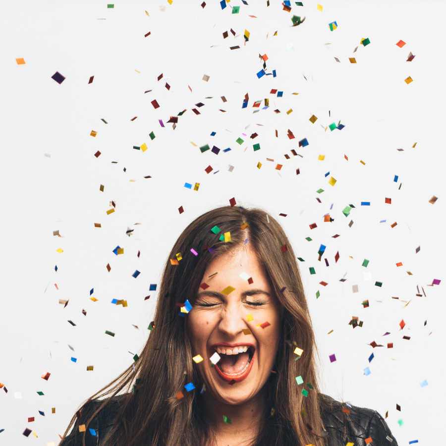 seattle confetti portraits