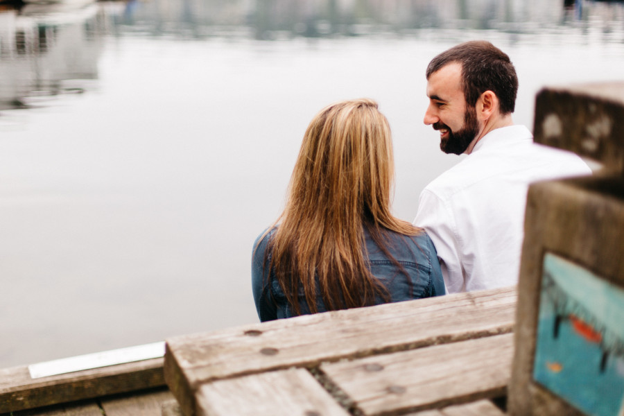 lake union engagement photos