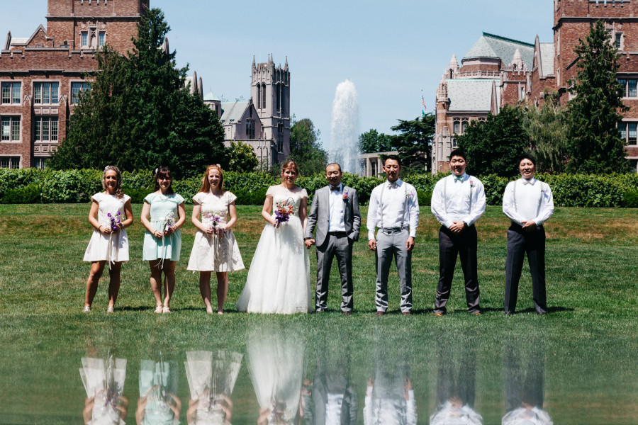 wedding photography university of washington