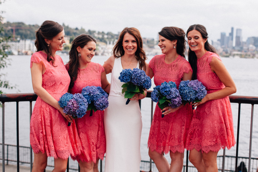 bridal party photos gas works park