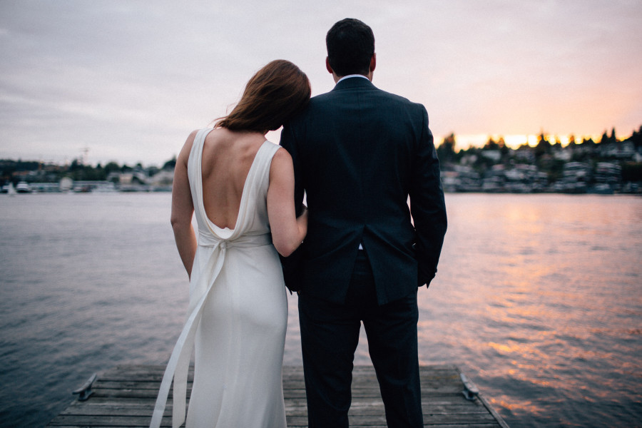 lake union wedding photos