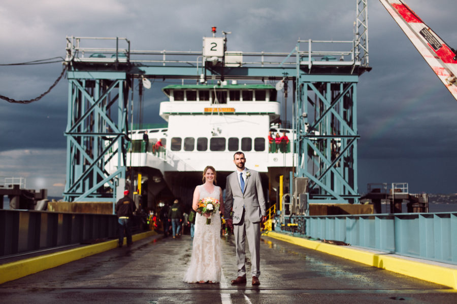 ferry wedding photos seattle