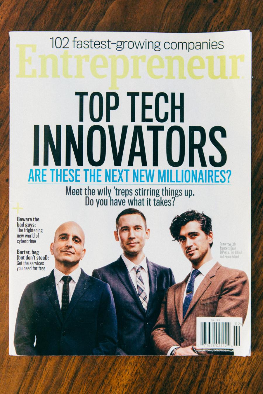Entrepreneur magazine - february 2014 sparkfly photography