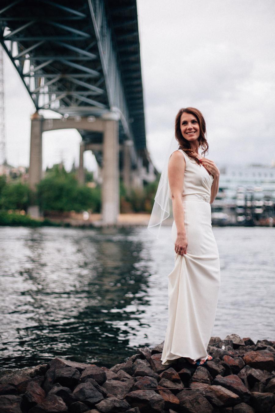 bride portraits seattle