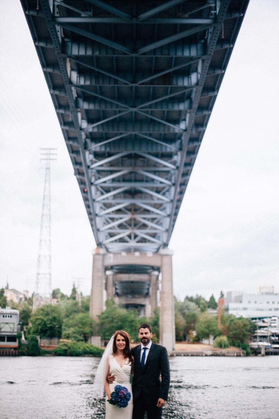 bridge wedding photos seattle