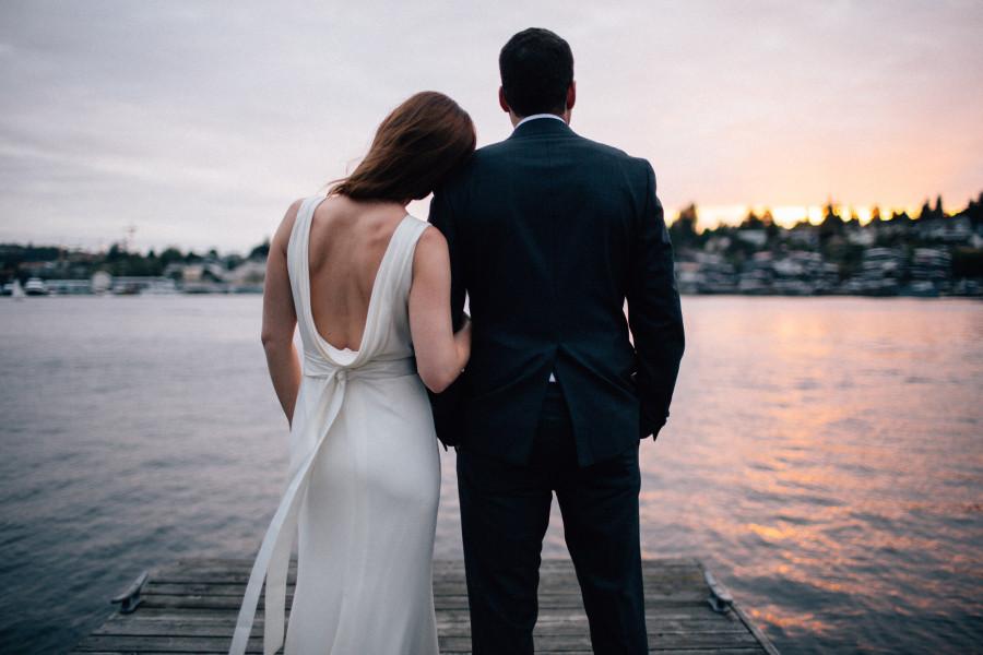 lake union wedding photos