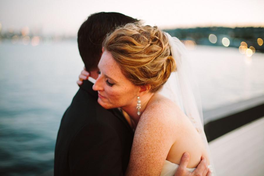 sunset wedding photos seattle