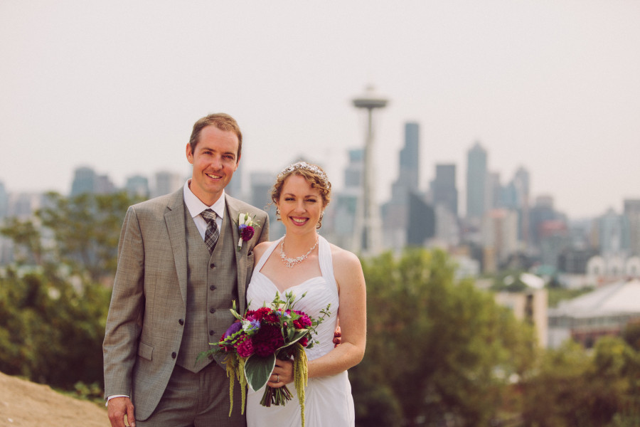 kerry park wedding photos seattle