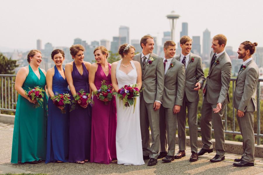 wedding party photos kerry park