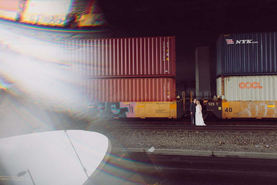 train wedding photos tacoma